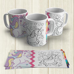 Taza Pintable Unicornio