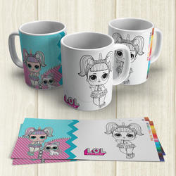 Taza Pintable Mu�ecas LoL 1