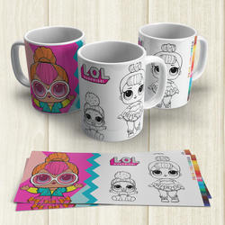 Taza Pintable Mu�ecas LoL 2