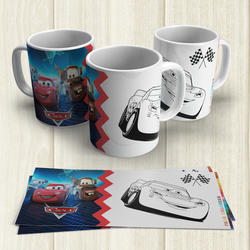 Taza Pintable Cars